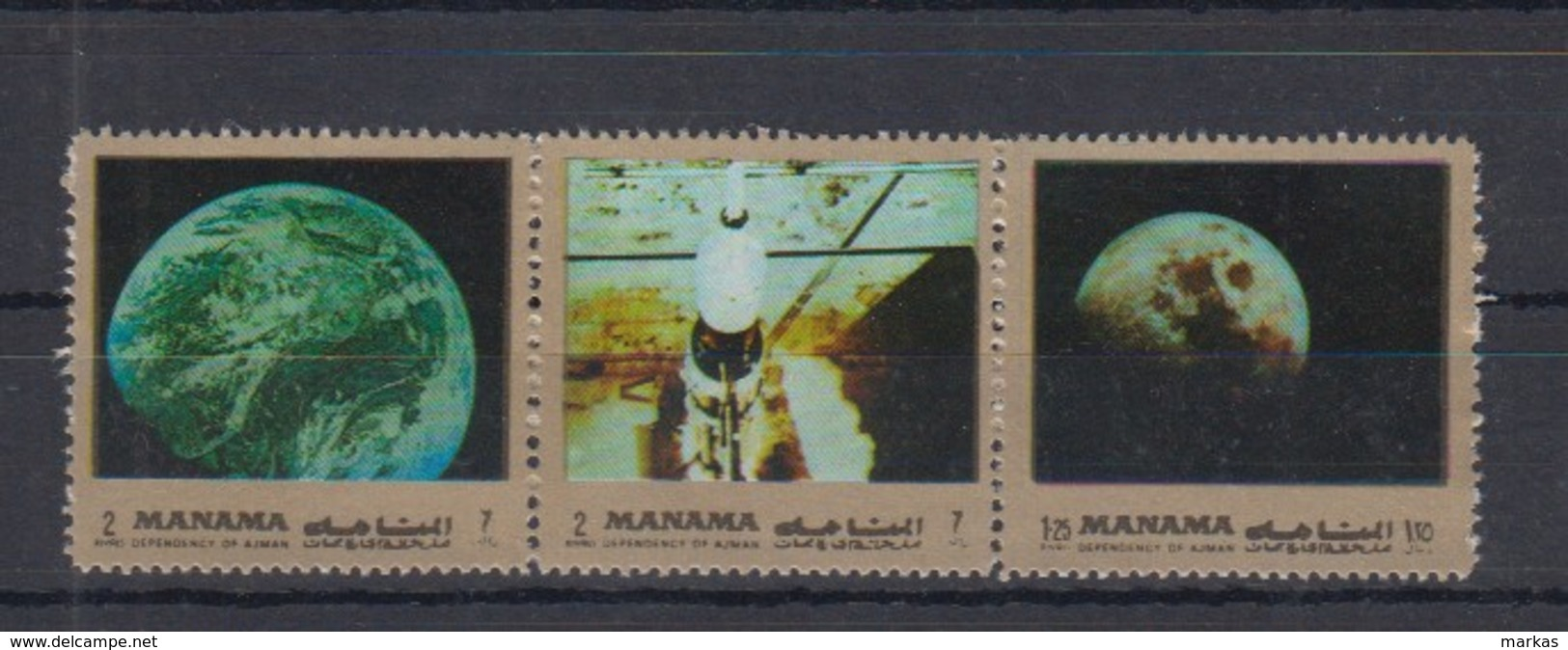 I20. Manama - MNH - Space - Spaceships - Moon - Other