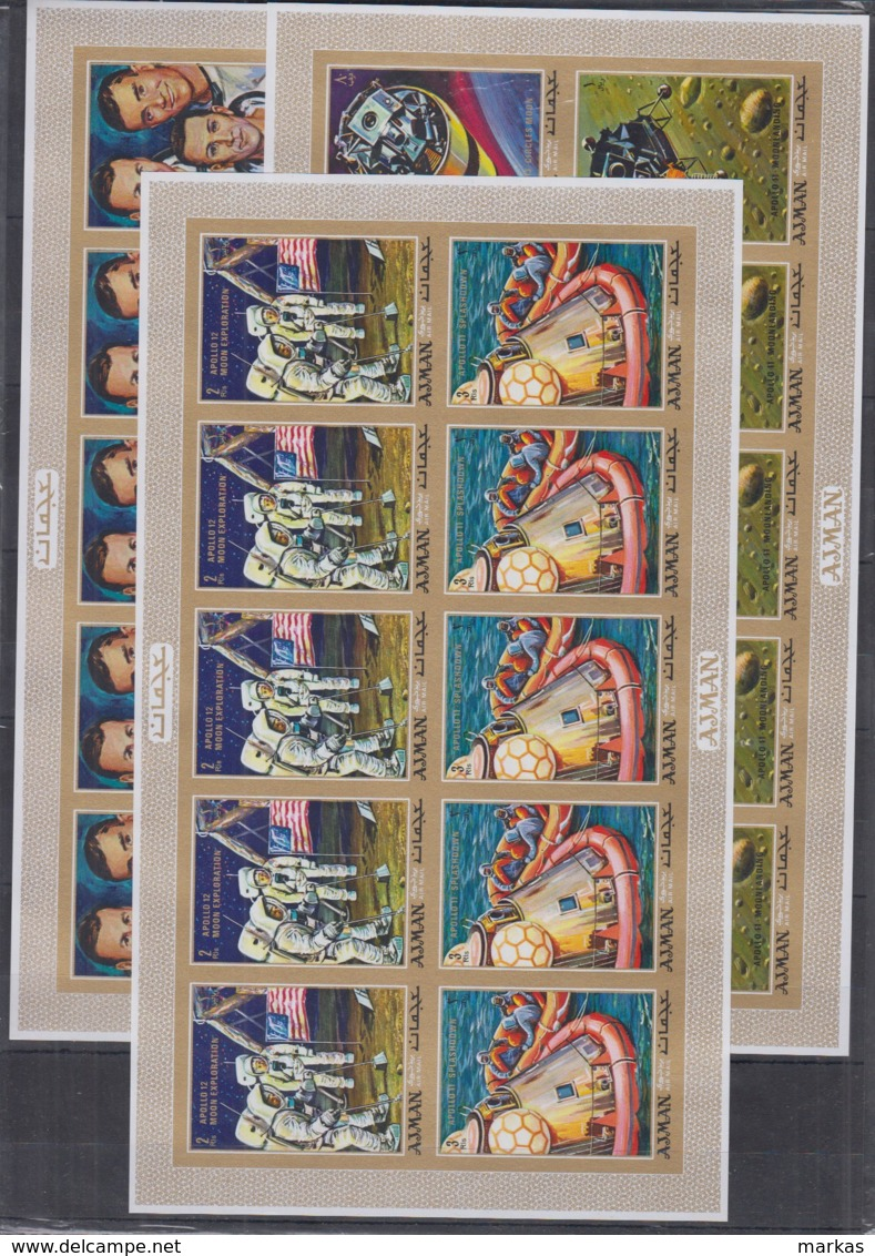 O20. Ajman - MNH - Space - Spaceships -Astronauts - Imperf - Space