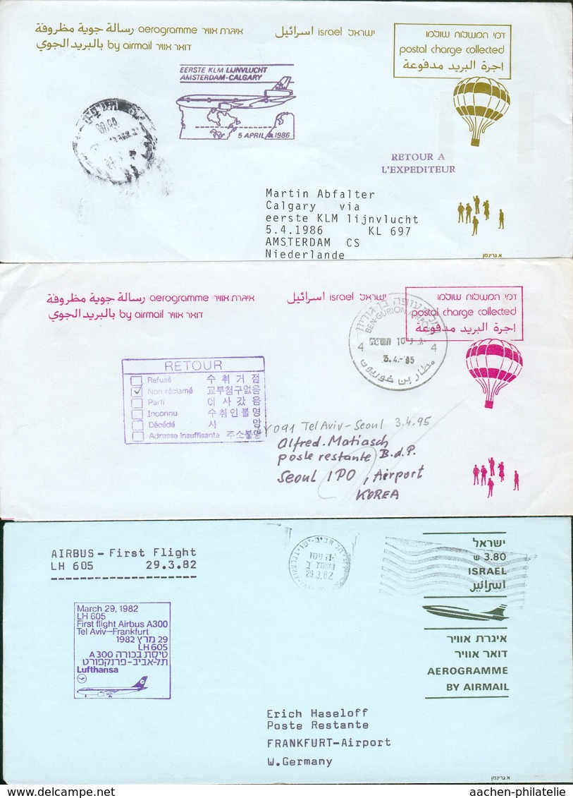 Israel Collection With 28 Used PS Aerogramm O GA Hp68-2 - Israel