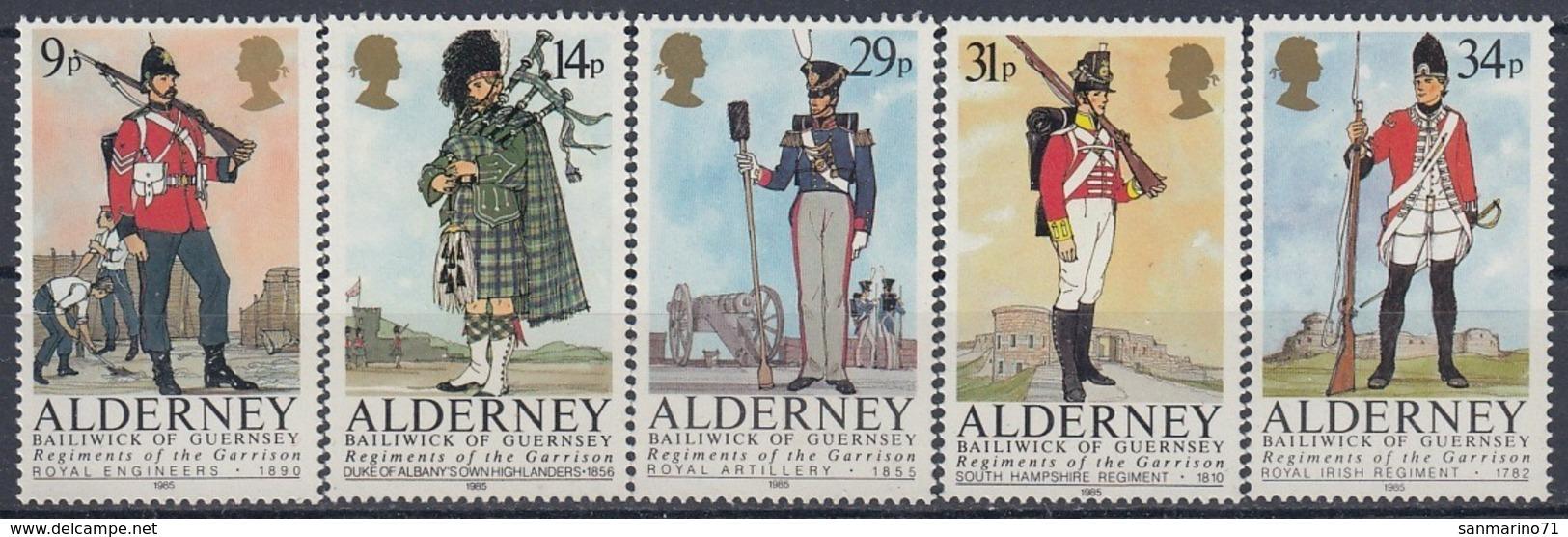 ALDERNEY 23-27,unused - Alderney
