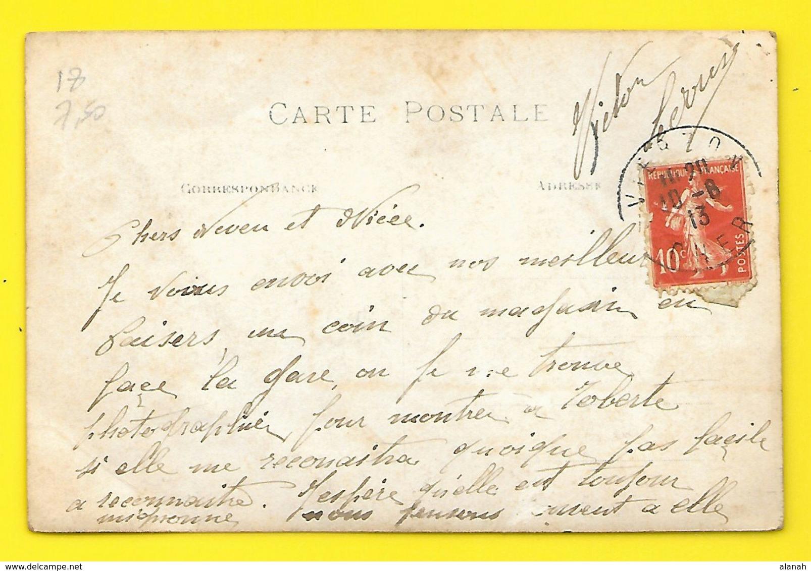 VIERZON? Carte Photo 1913 Fabricant De Diligences? () Cher (18) - Vierzon