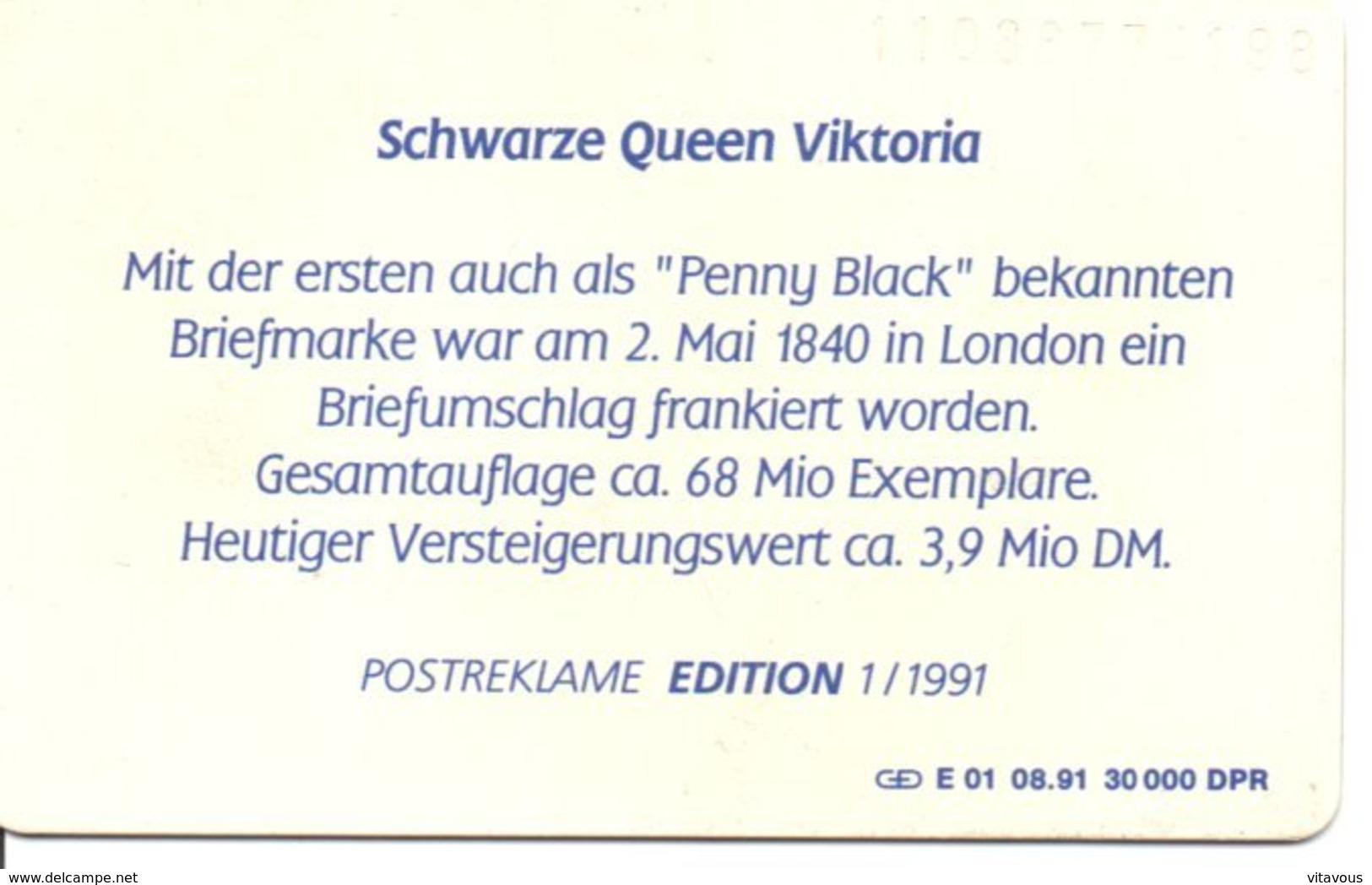 Timbre Stamp Reine Victoria Queen éléphant Elephant Télécarte Allemagne édition 1/1991 Phonecard  (G 187)) - Timbres & Monnaies