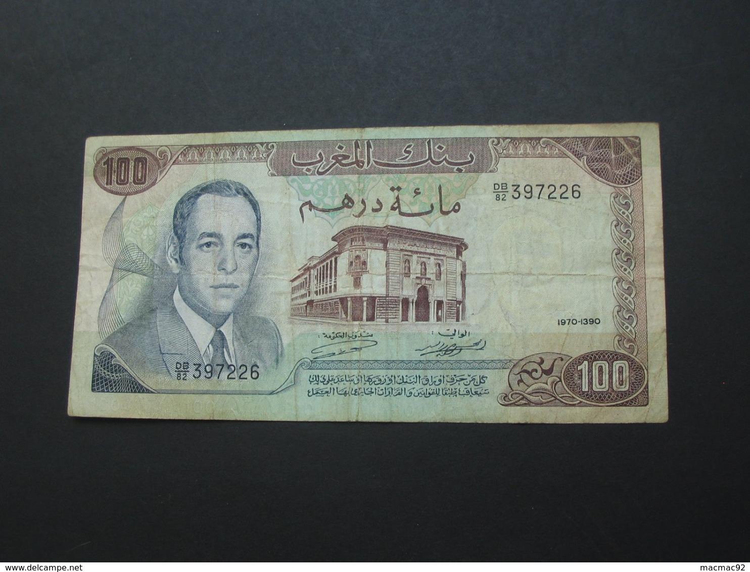 100 Dirhams 1970-1390 Maroc - Banque Du Maroc **** EN ACHAT IMMEDIAT **** - Marocco