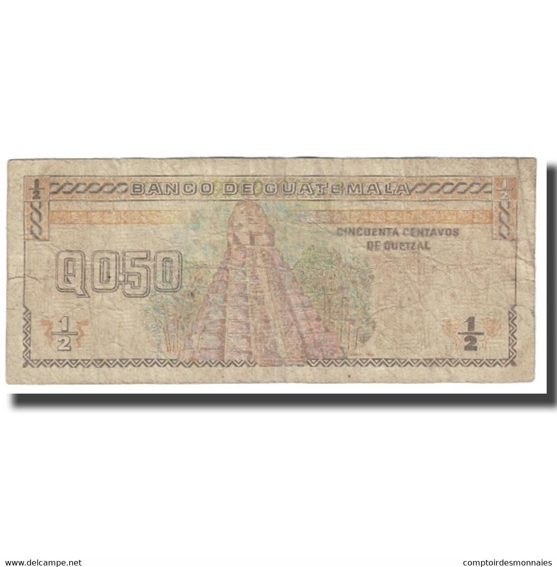 Billet, Guatemala, 1/2 Quetzal, 1994, 1994-09-27, KM:72b, TB - Guatemala