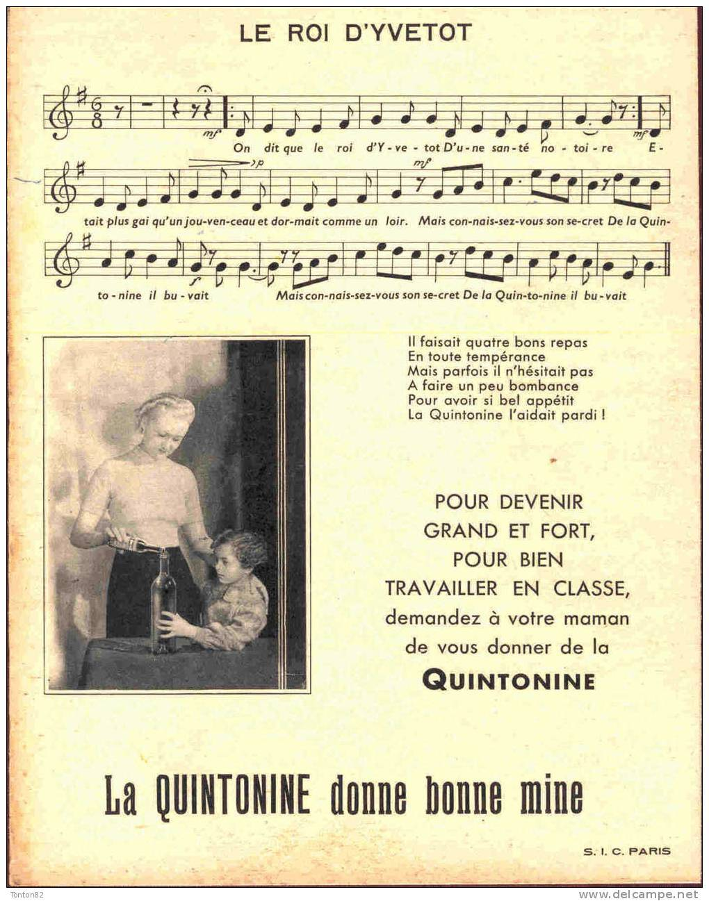Protège Cahier Quintonine - Nos Belles Chansons De France - Le Roi D' Yvetot - Drogisterij En Apotheek