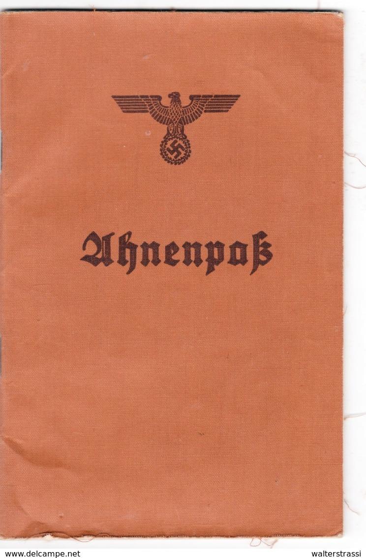 """III. Reich,   1939 """" Ahnenpaß """" - Deutschland"""
