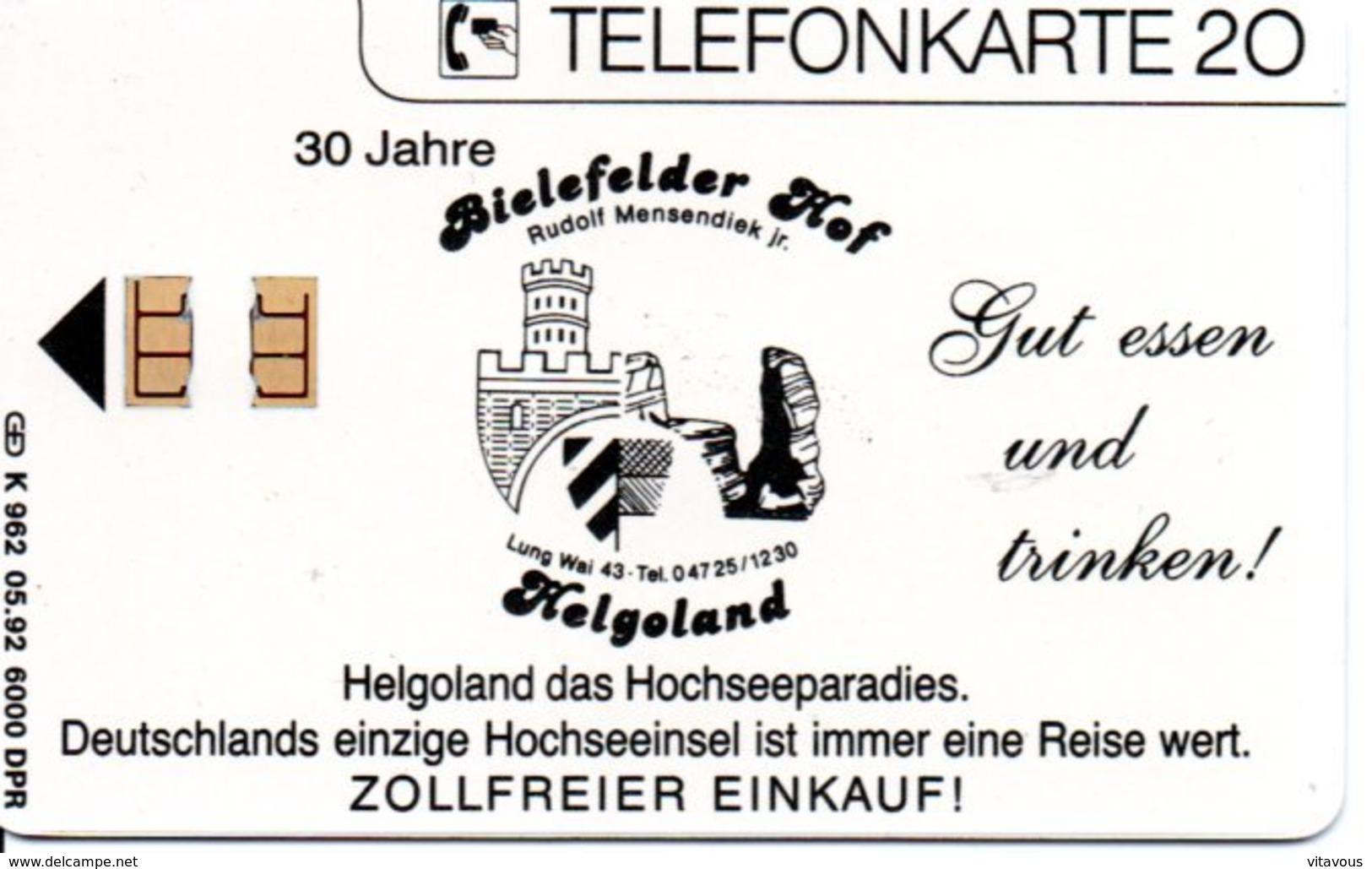 Timbre Stamp  Télécarte Allemagne 6000 Exemplaires Phonecard  (G 188)) - Timbres & Monnaies
