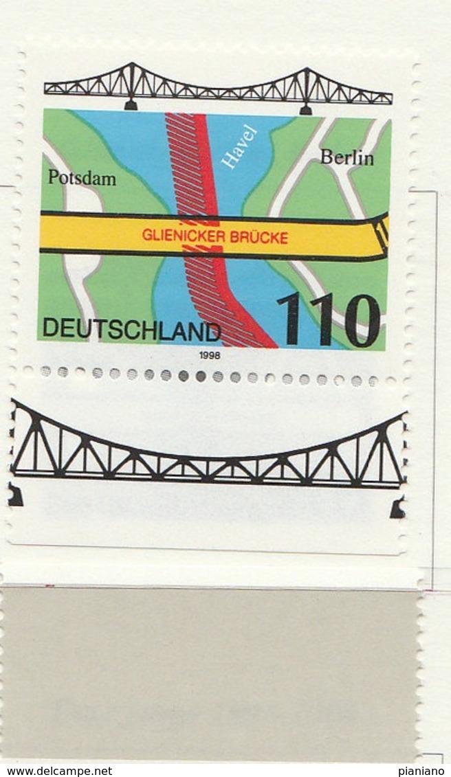 PIA - GER- 1998 : Ponte Di Glienicke Tra Postsdam E Berlino - (Yv 1799) - Ponti
