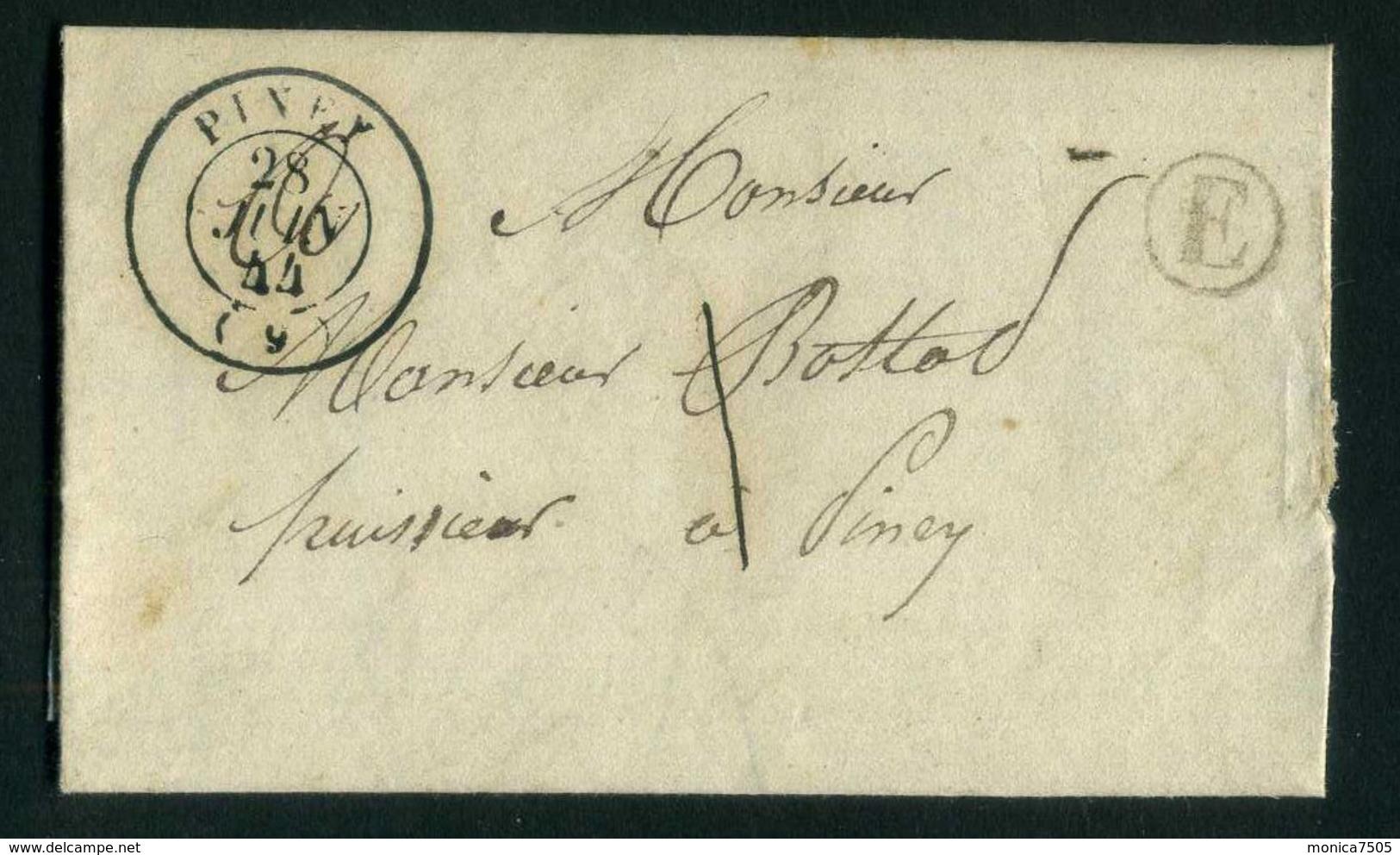 LETTRE   DU  28  JUIN  1844  POUR  PINEY   . - Marcophilie (Lettres)