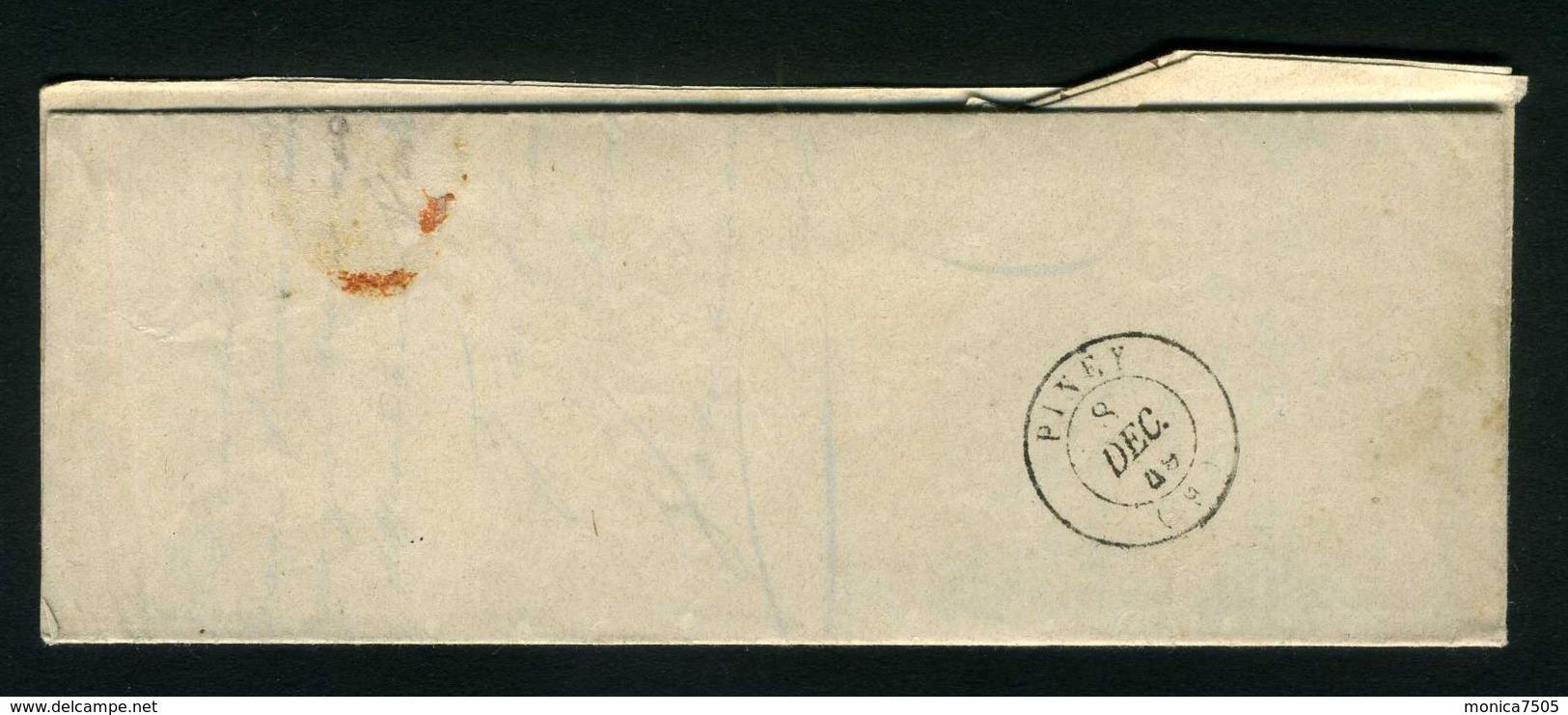 LETTRE  DE  BRIENNE  DU  8  DECEMBRE  1849  POUR  PINEY   . - Marcophilie (Lettres)