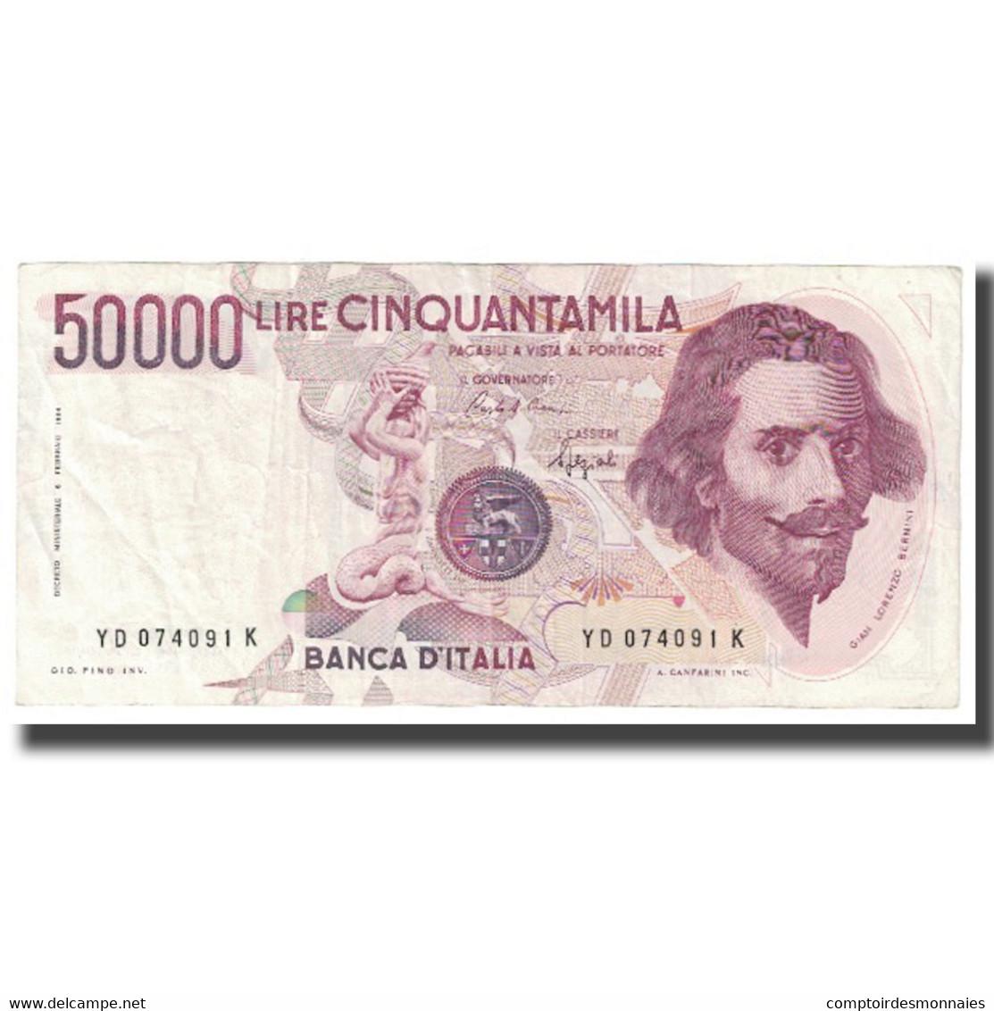 Billet, Italie, 50,000 Lire, 1984, 1984-02-06, KM:113a, TTB - [ 2] 1946-… : République