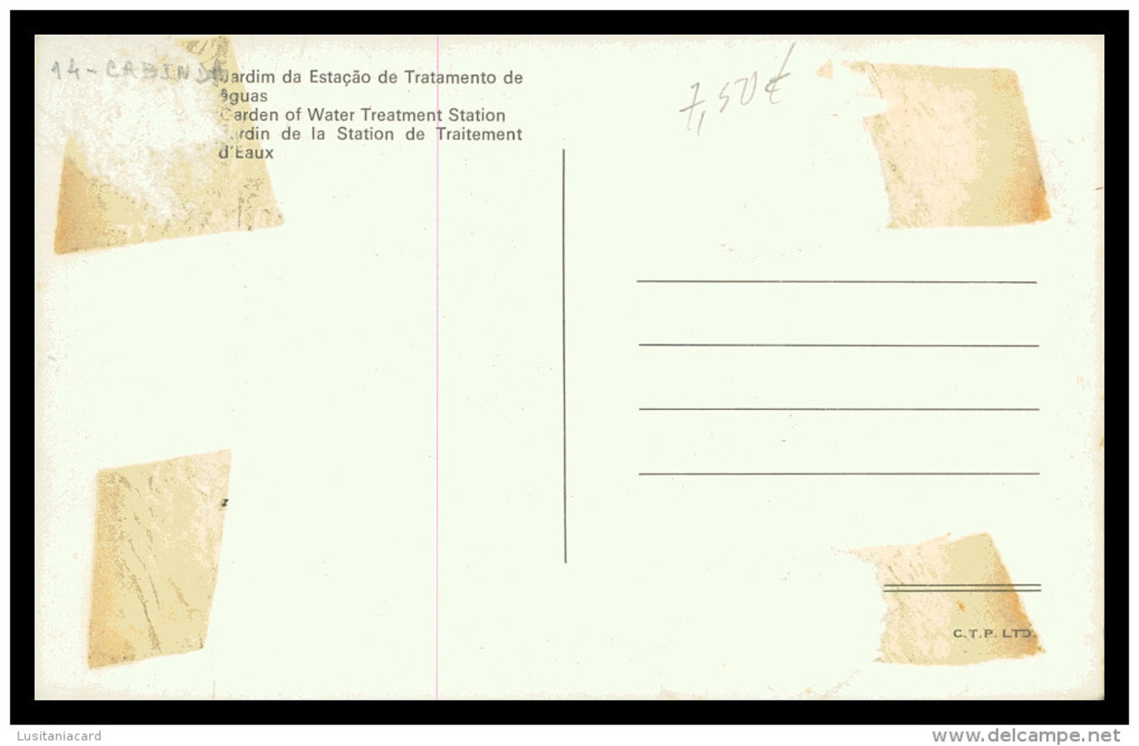 CABINDA - Jardim Da Estação De Tratamento De águas ( Ed. C.T.P. Lda.) Carte Postale - Angola