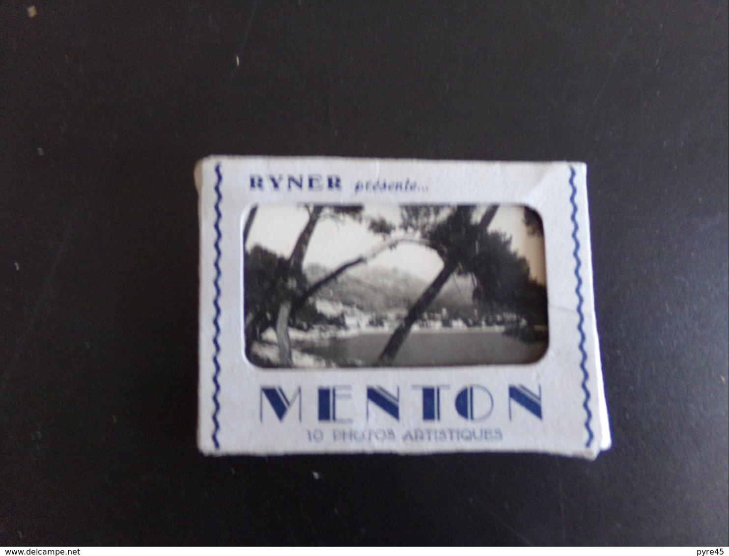 10 CARTES VUE DE MENTON 9 X 7 CM - Lieux