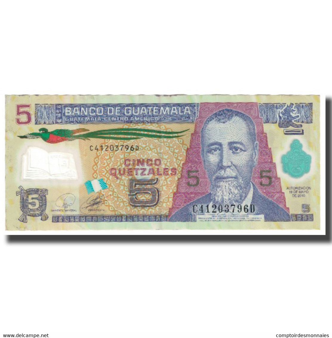 Billet, Guatemala, 5 Quetzales, 2010, 2010-05-19, KM:116, TB - Guatemala