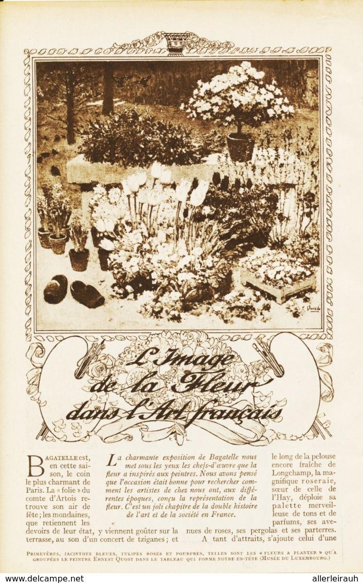 L`image De La Fleur Dans L`art Francais /  Article , Pris D`un Magazine / 1912 - Bücher, Zeitschriften, Comics