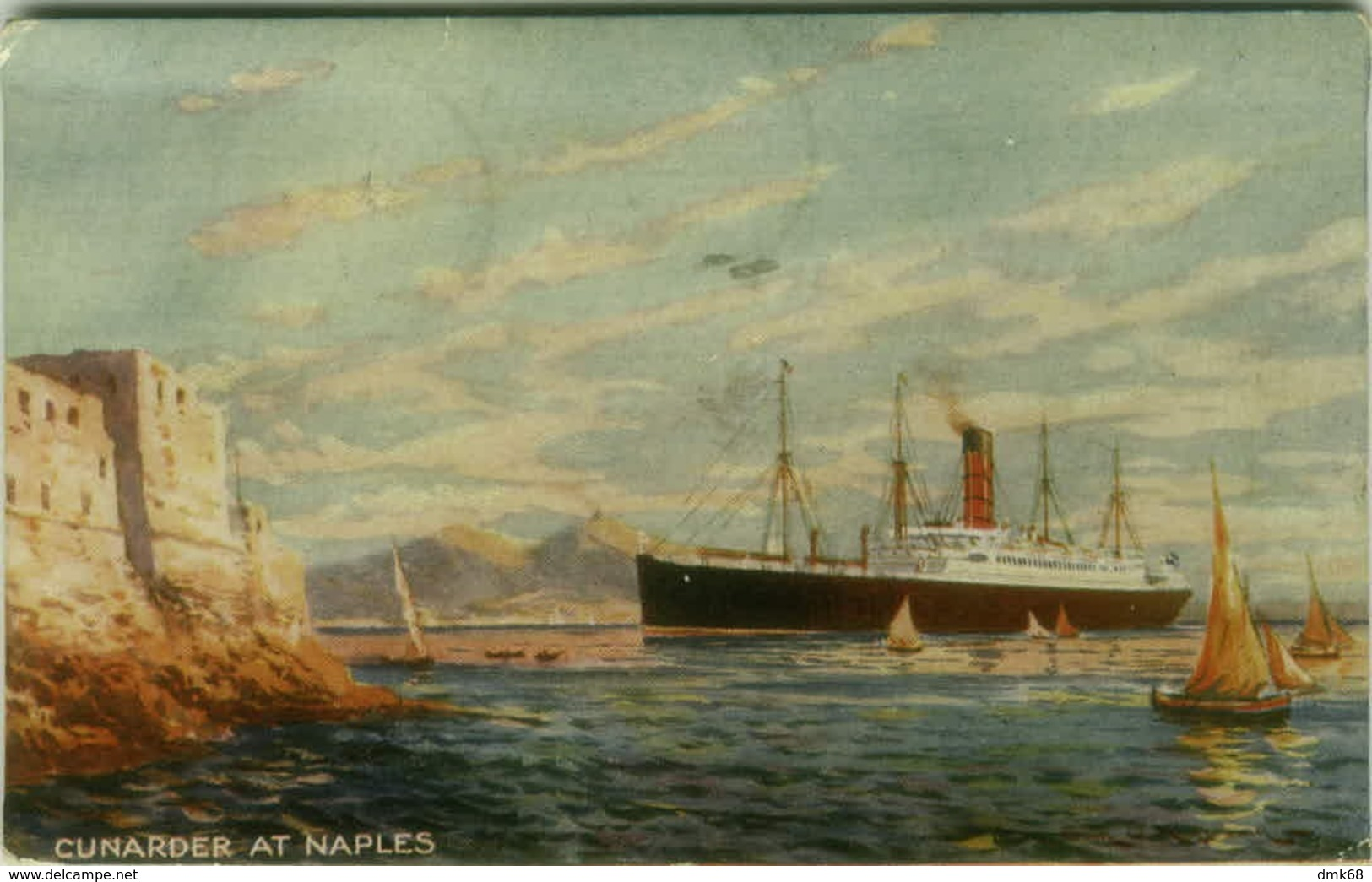 NAPOLI - CUNARDER AT NAPLES - BOAT / SHIP - 1917 (3674) - Napoli (Naples)
