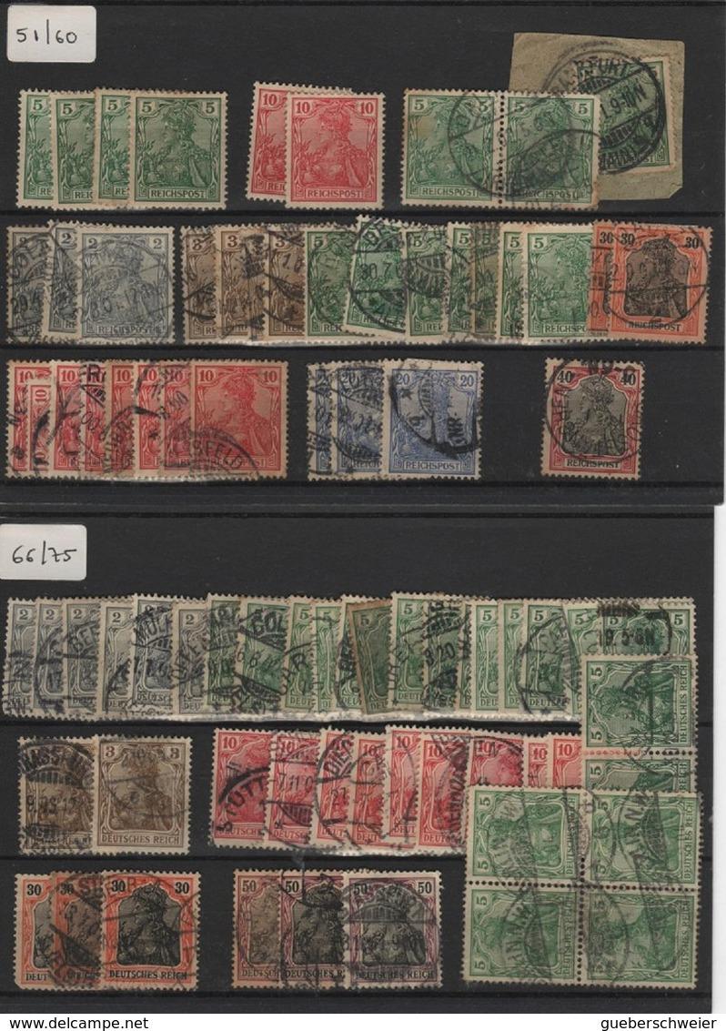 ALL-R1 - Schönes Los Mit über 300 Germania Mit Abarten Neu* Und Verschiedene Stempel Paare Und Viererblock 4 Fotos - Allemagne