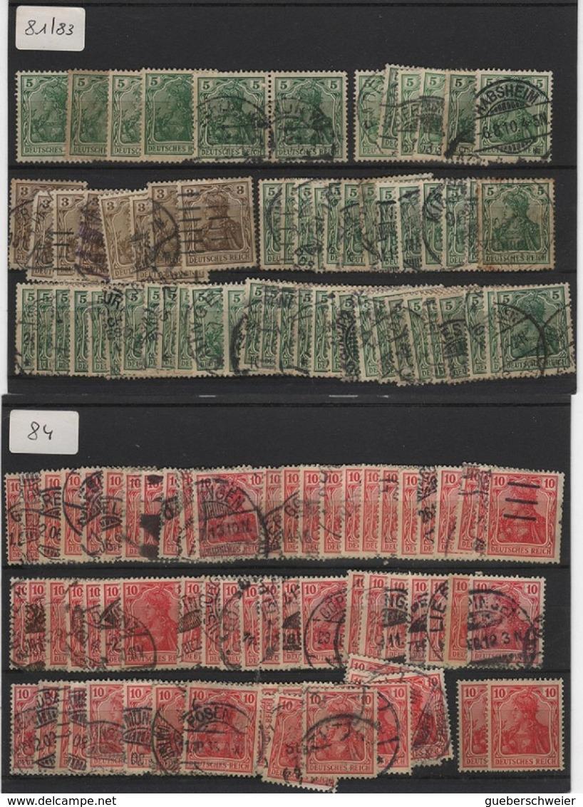 ALL-R1 - Schönes Los Mit über 300 Germania Mit Abarten Neu* Und Verschiedene Stempel Paare Und Viererblock 4 Fotos - Germany