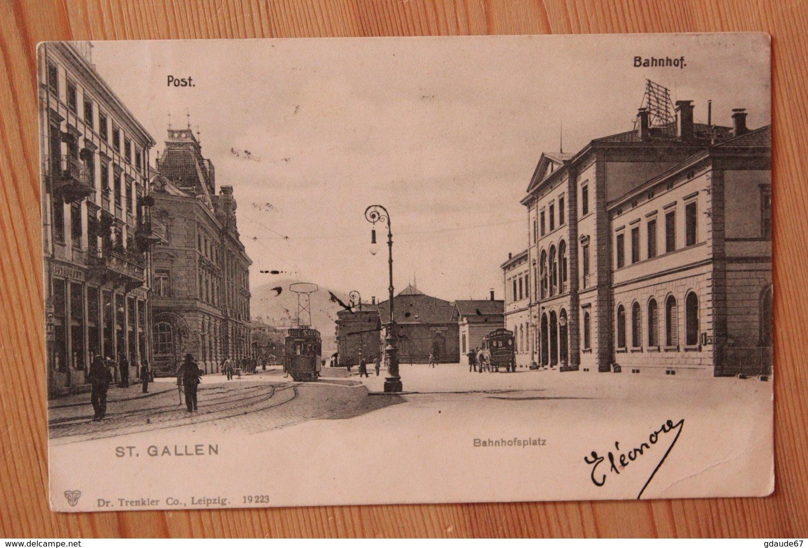 ST GALLEN - BAHNHOFSPLATZ - SG St. Gall