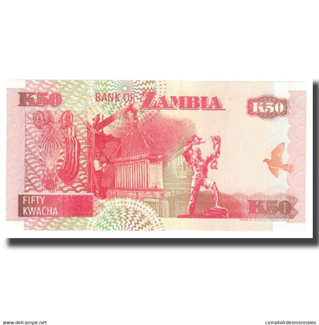 Billet, Zambie, 50 Kwacha, KM:37a, NEUF - Zambie