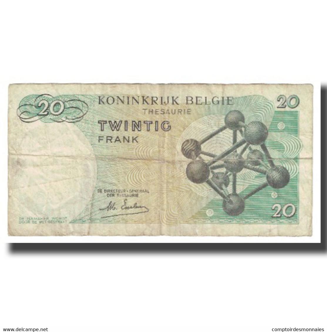 Billet, Belgique, 20 Francs, 1964, 1964-06-15, KM:138, TB - Belgio