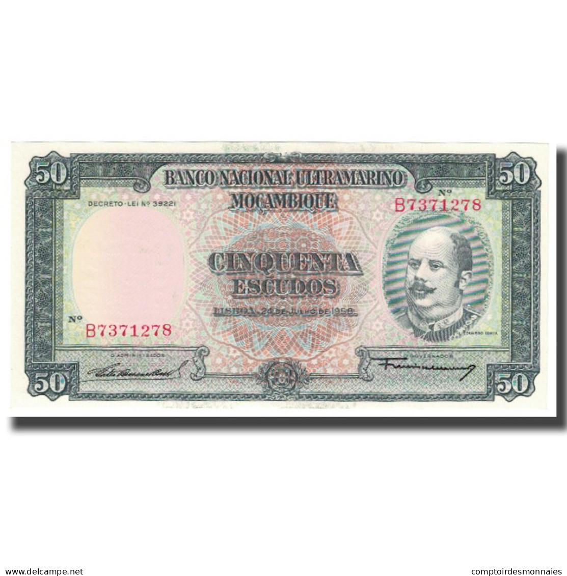 Billet, Mozambique, 50 Escudos, 1958, 1958-07-24, KM:106a, NEUF - Mozambique