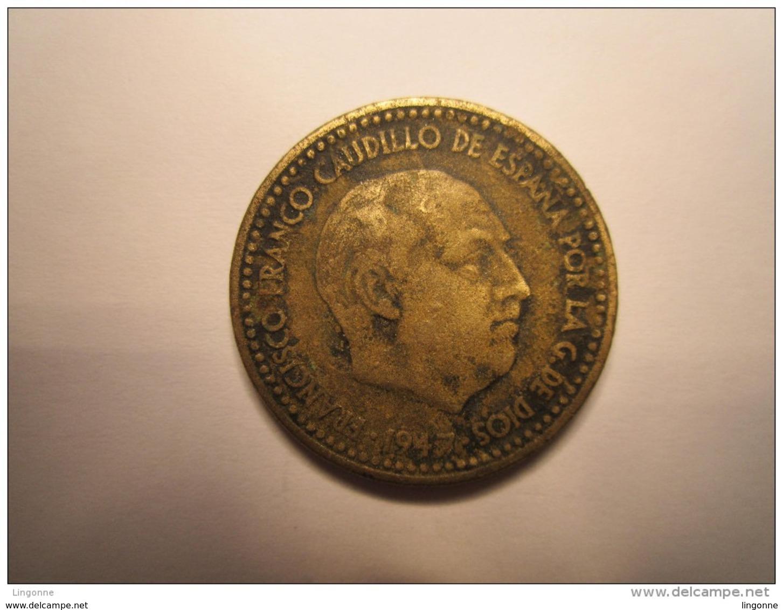 ESPAGNE : UNA (1) PESETA 1947 (Etoile 48 ) - 1 Peseta
