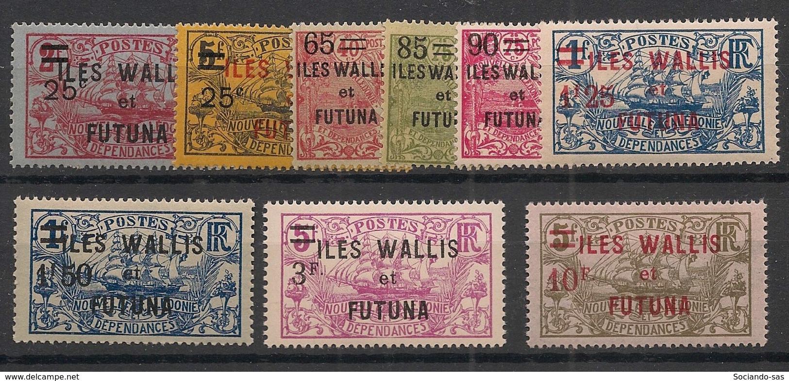 Wallis Et Futuna - 1924-27 - N°Yv. 30 à 38 - 9 Valeurs - Neuf Luxe ** / MNH / Postfrisch - Wallis Und Futuna