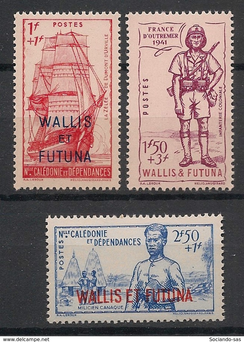 Wallis Et Futuna - 1941 - N°Yv. 87 à 89 - Défense De L'empire - Série Complète - Neuf Luxe ** / MNH / Postfrisch - Wallis Und Futuna