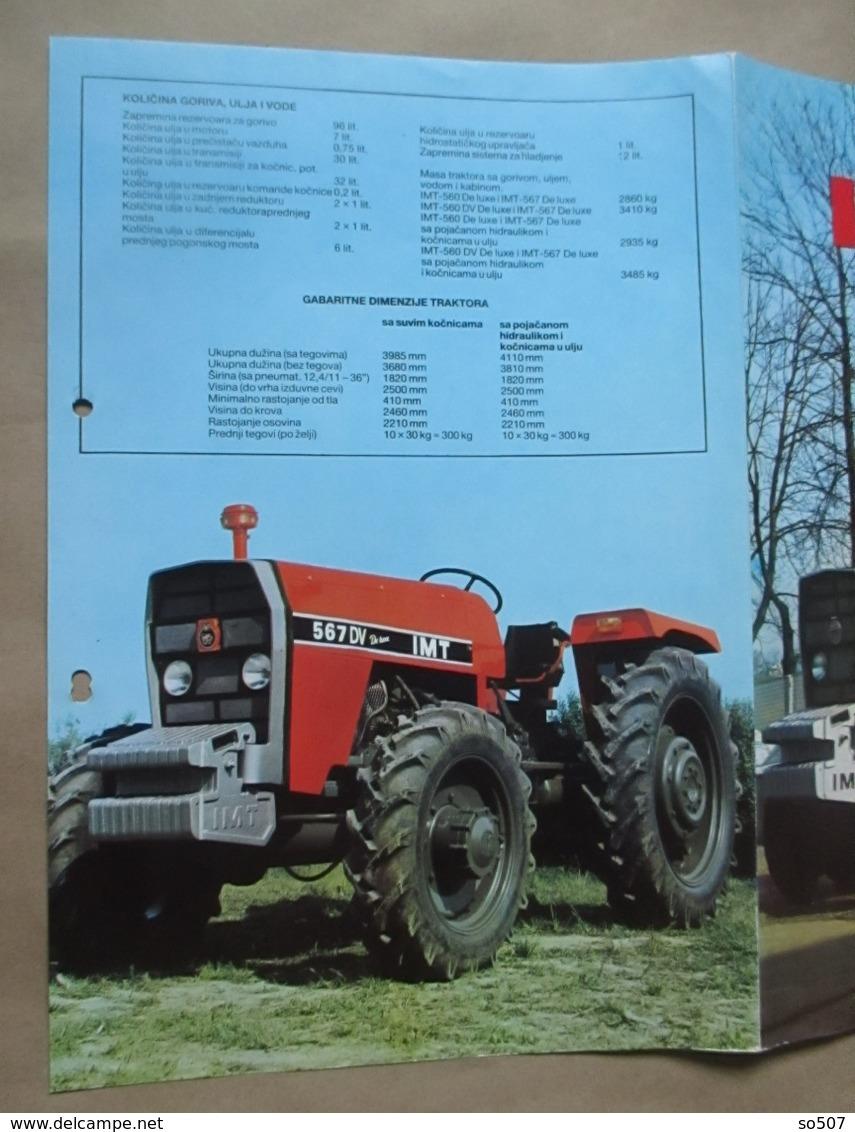 IMT 560 / 567 De Luxe Tractor Brochure,Prospect,Traktor,Industry Of Agricultural Machines,Tractors,Belgrade,Yugoslavia - Traktoren
