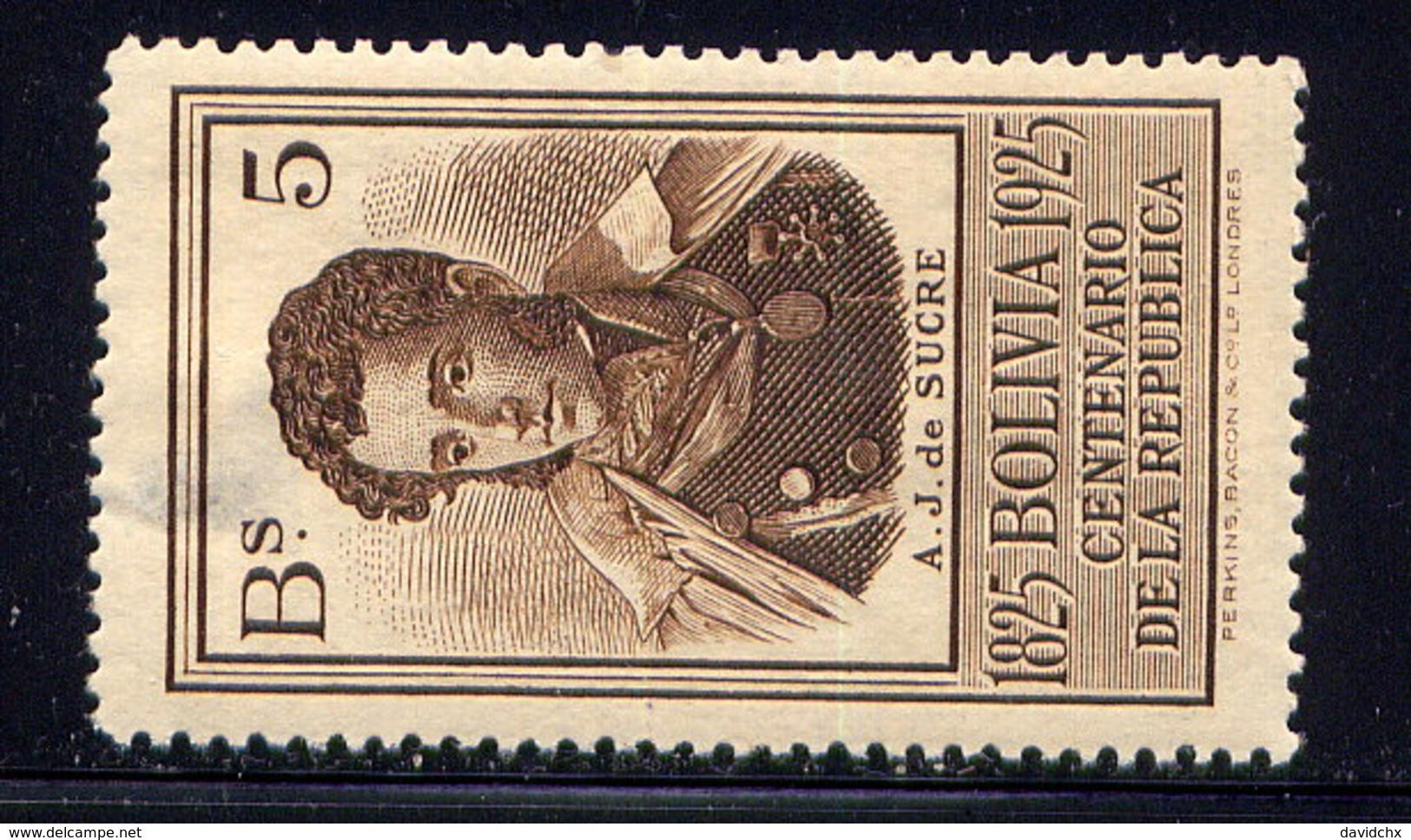 BOLIVIA, NO. 159, MH / SEE NOTE - Bolivia