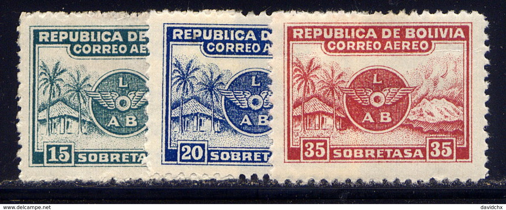 BOLIVIA, SET, NO.'S C8-C10, MH - Bolivia