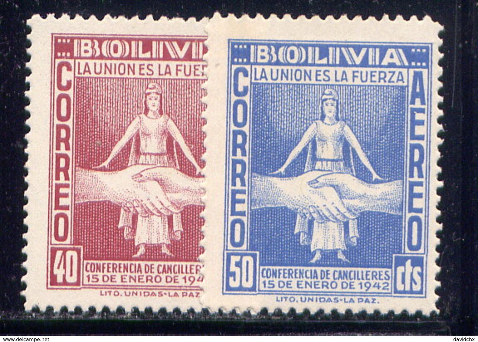 BOLIVIA, NO.'S C86-C87, MH - Bolivia