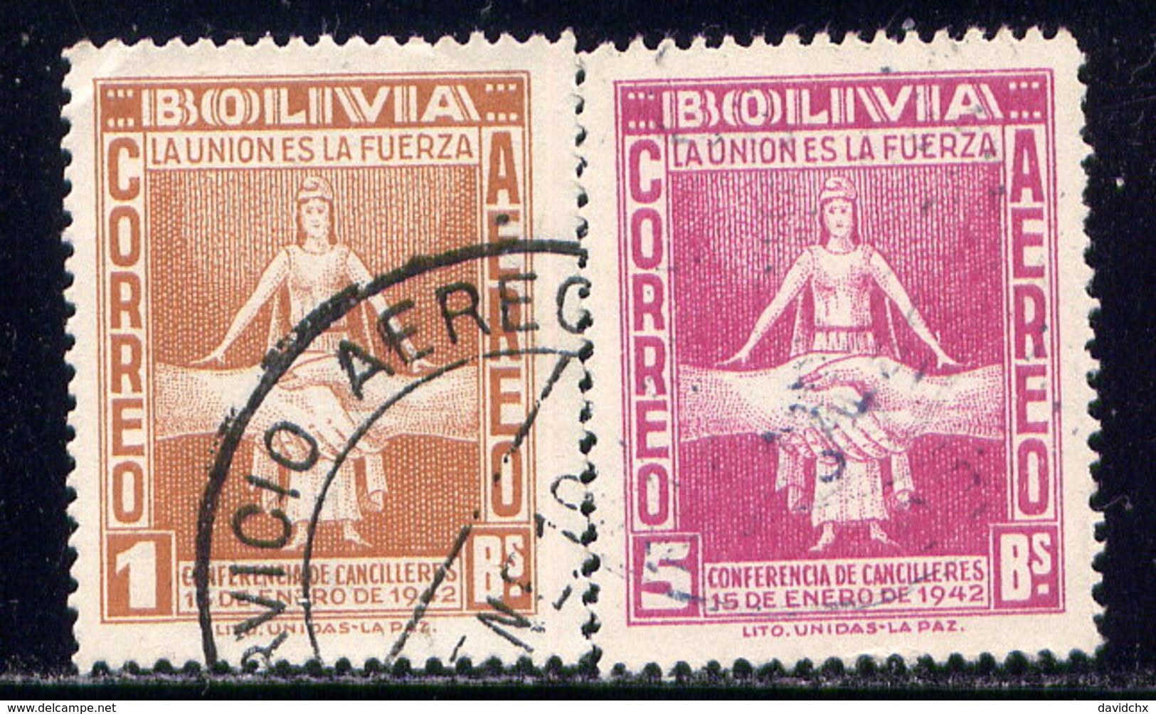 BOLIVIA, NO.'S C88-C89 - Bolivia