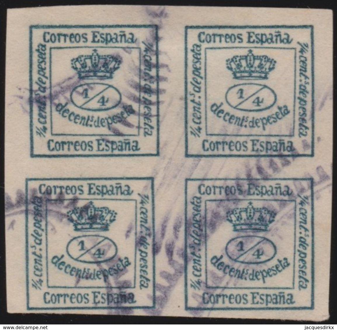 ESPANA  .      Yvert   129     .       O       .         Cancelled      .    /   .  Oblitéré - 1872-73 Reino: Amadeo I