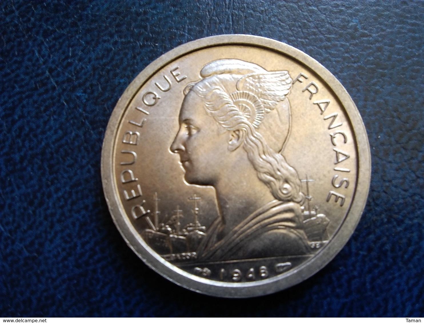 La Réunion  2 Francs 1948   -- UNC -- - Colonie