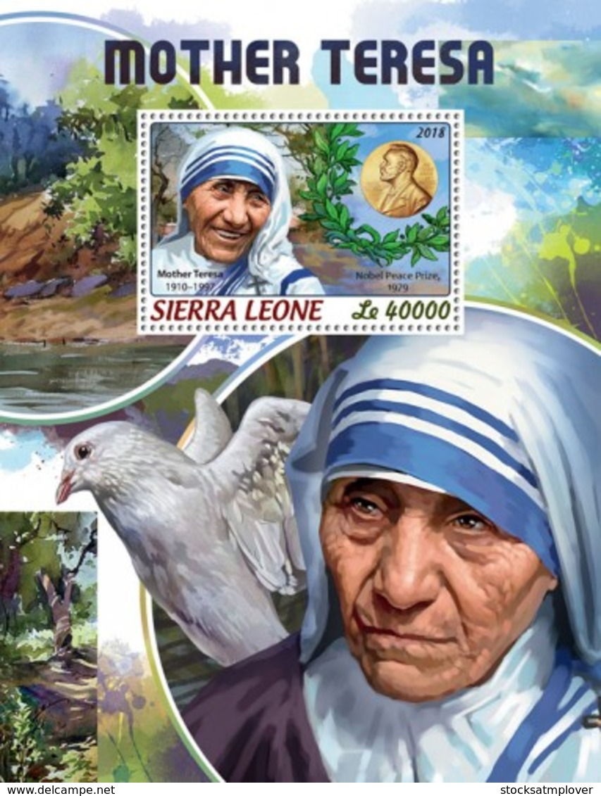 Sierra Leone   2018  Mother Teresa  S201806 - Sierra Leone (1961-...)