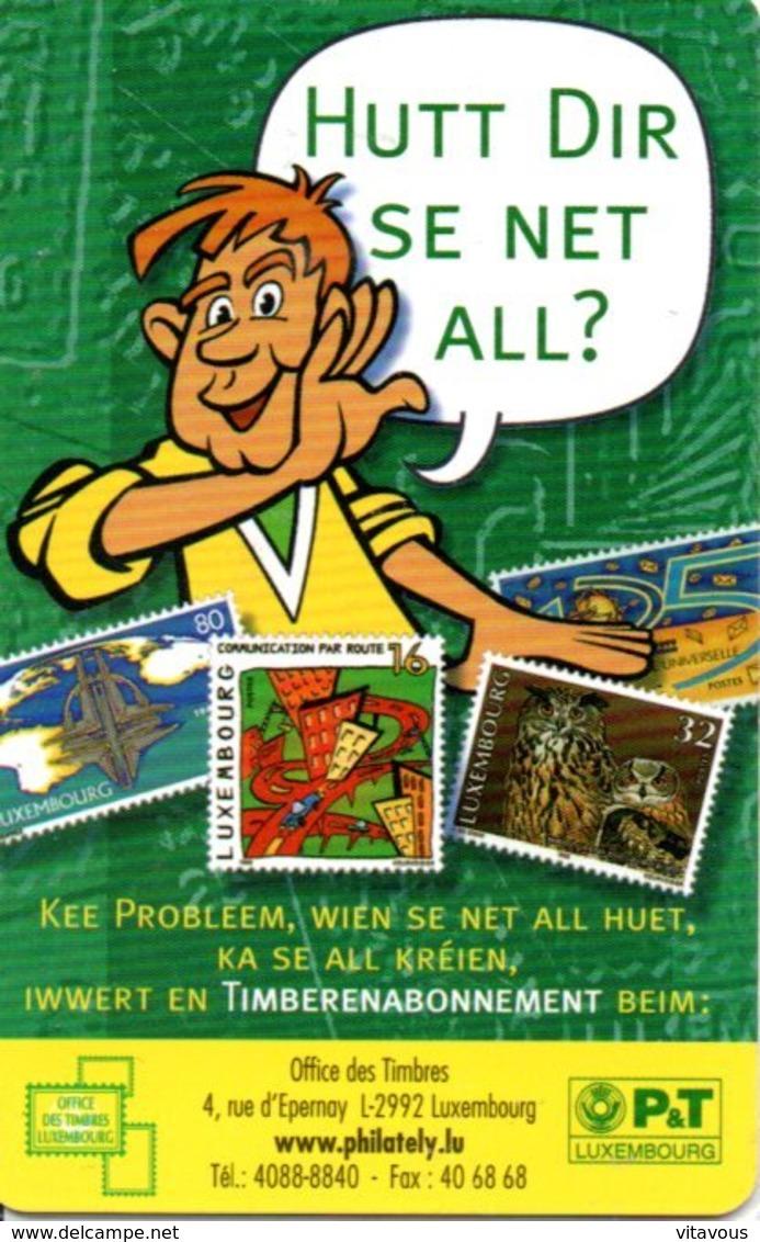 Timbre Stamp BD Télécarte P&T Luxembourg 50 Unités Phonecard  (G 190)) - Timbres & Monnaies