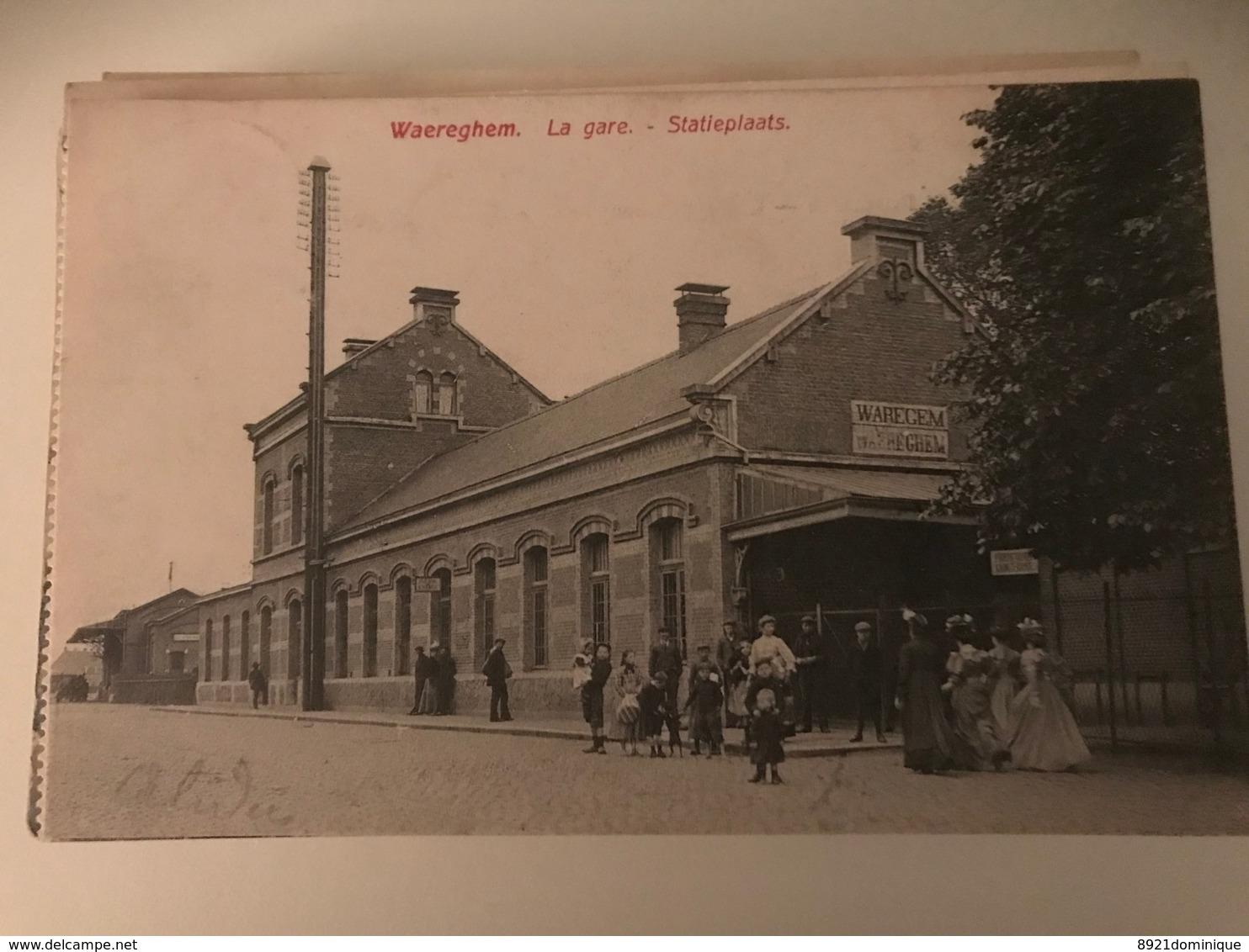 Waereghem - Waregem : La Gare - Statieplaats - Station - Statie Bahnhof (gelopen) - Waregem