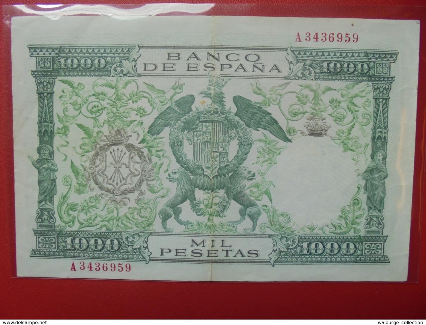 ESPAGNE 1000 PESETAS 1957 CIRCULER BELLE QUALITE (B.6) - [ 3] 1936-1975: Regime Van Franco