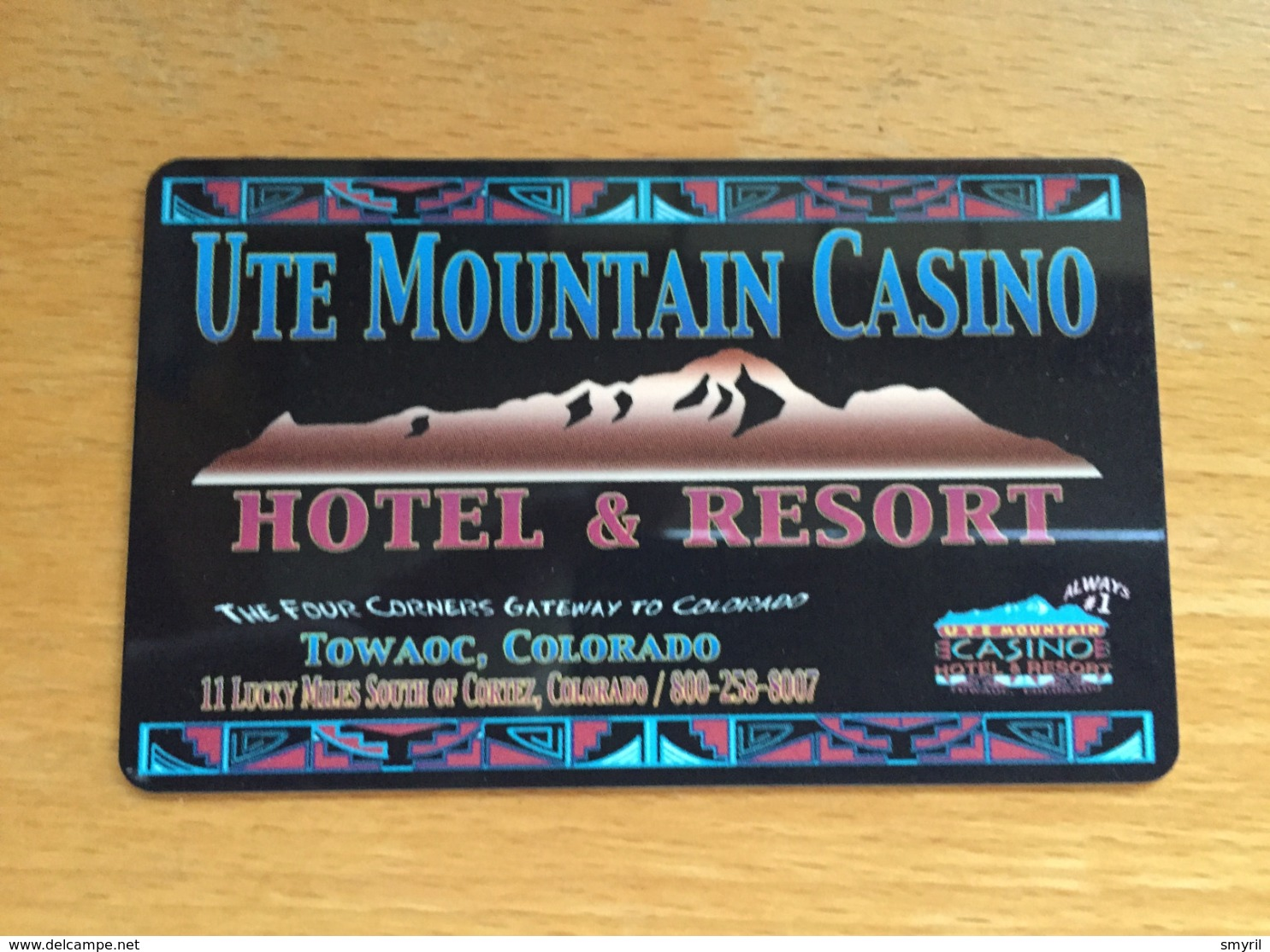 Hotelkarte Room Key Keycard Clef De Hotel Tarjeta Hotel  UTE MOUNTAIN CASINO Hotel & Resort  TOWAOC Colorado - Télécartes