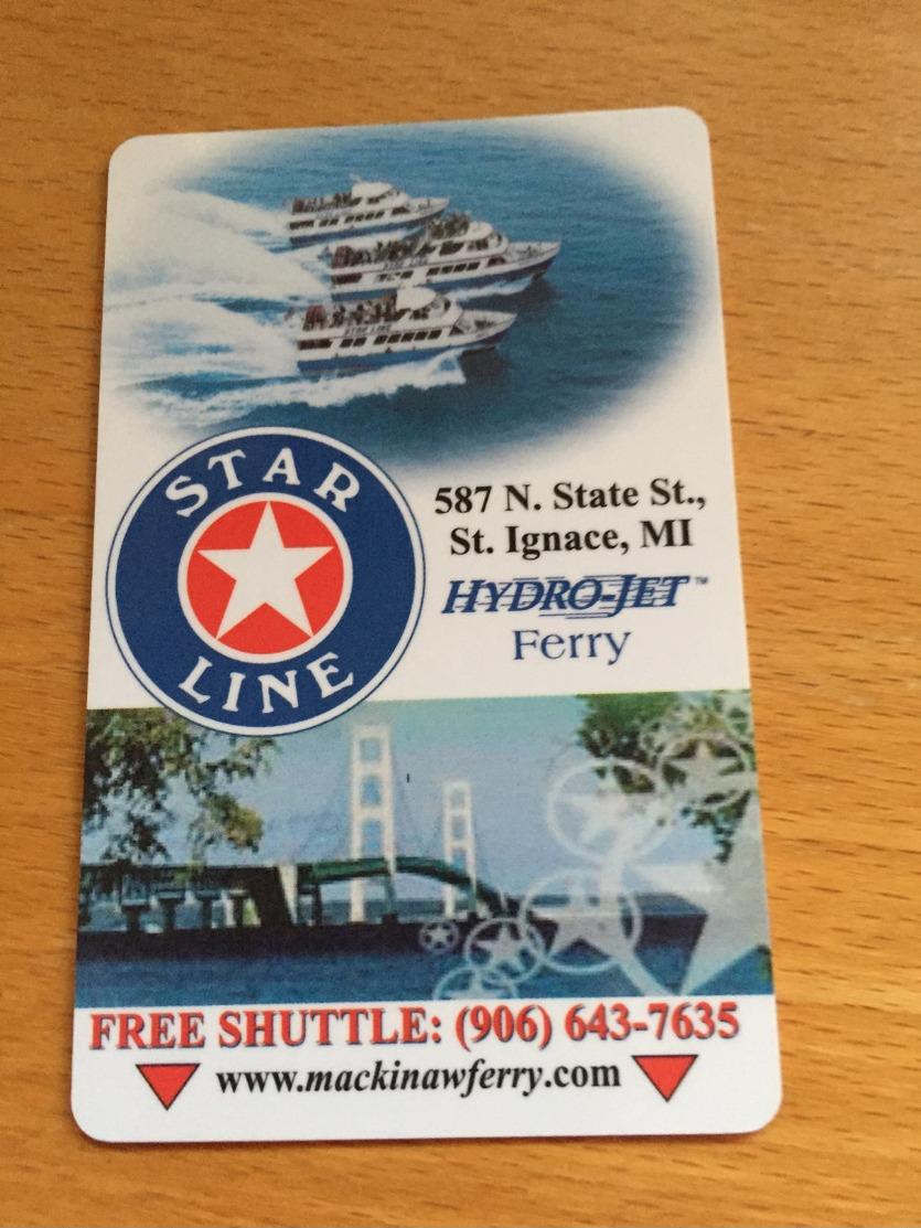 Hotelkarte Room Key Keycard Clef De Hotel Tarjeta Hotel   STAR LINE HYDRO JET FERRY  KEWADIN CASINO ST. IGNACE Michigan - Télécartes
