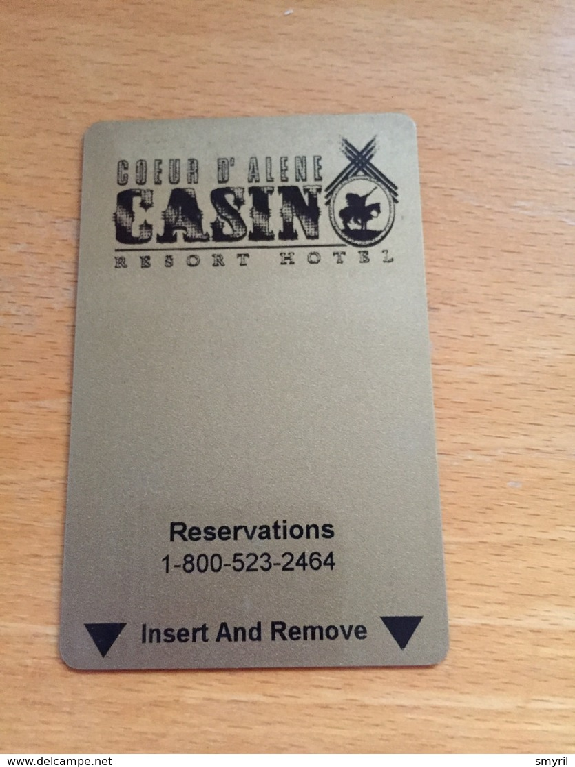 Hotelkarte Room Key Keycard Clef De Hotel Tarjeta Hotel  COEUR D`ALENE CASINO Resort  Hotel  WORLEY Idaho - Télécartes