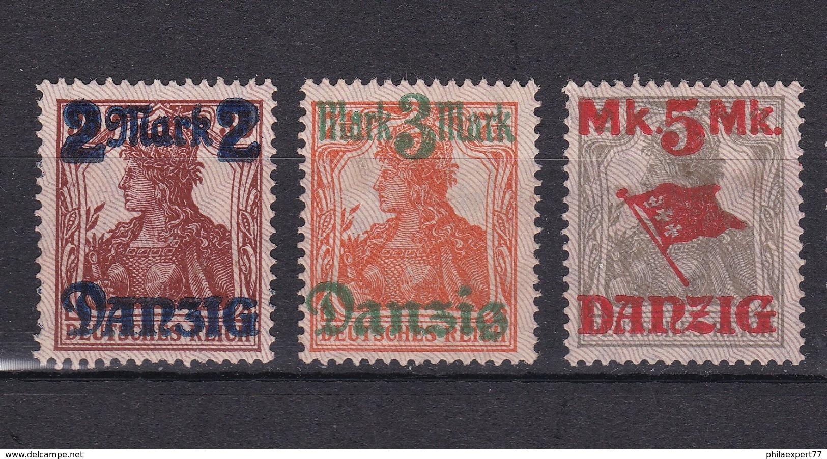 Danzig - 1920 - Michel Nr. 43/45 II - 50 Euro - Danzig