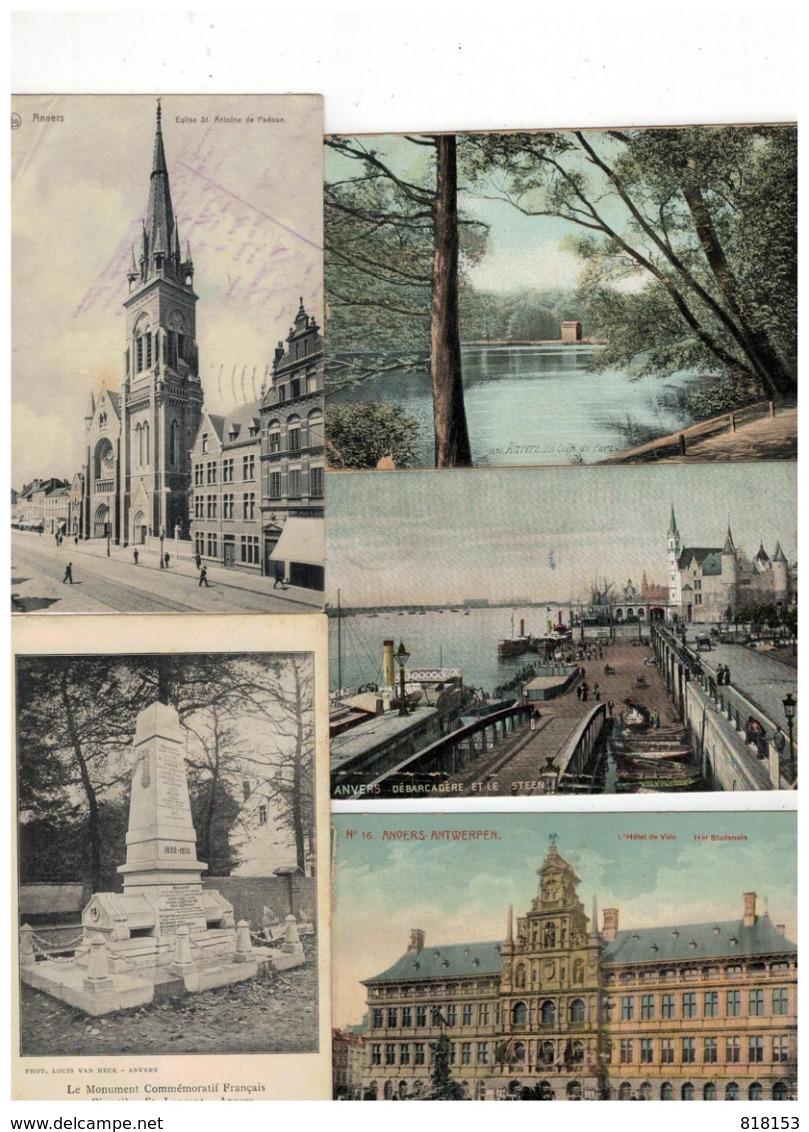 Antwerpen Anvers 100 Oude Postkaarten - 100 - 499 Karten