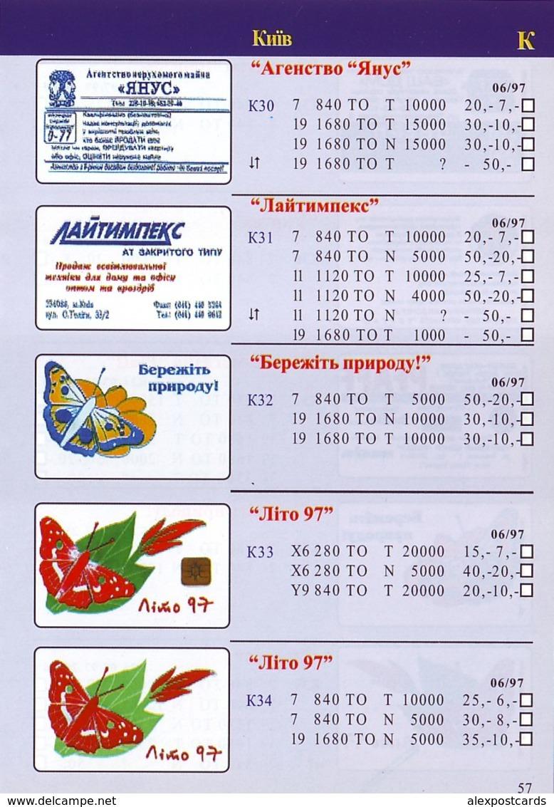 UKRAINE PHONECARDS CATALOGUE (1995-1999). - Telefonkarten
