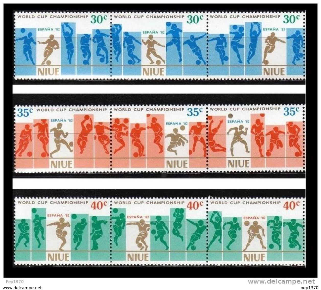NIUE 1982 - CAMPEONATO DEL MUNDO DE FUTBOL ESPAÑA-82 - YVERT 346-354** - Niue