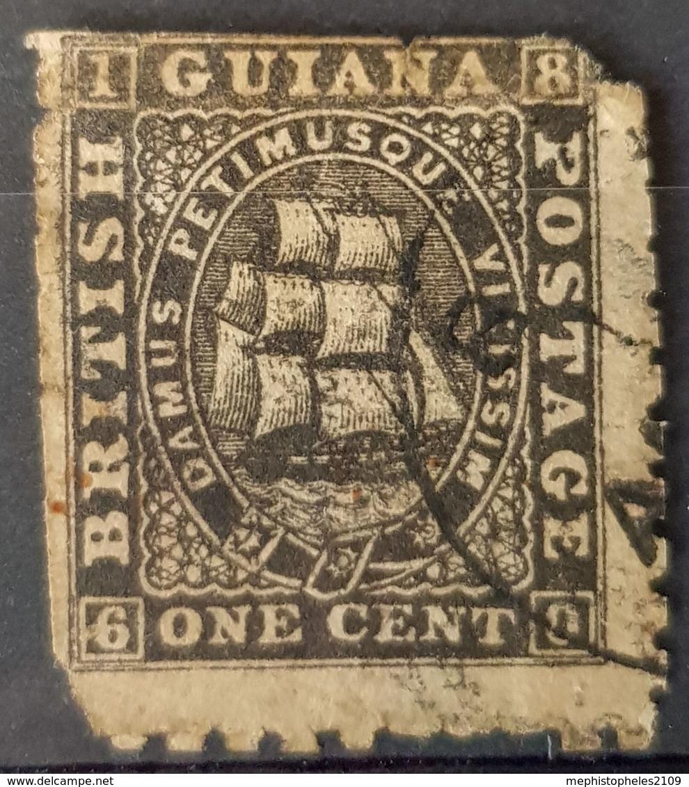 BRITISH GUIANA 1866 - Canceled - Sc# 50 - 1c - Guyana Britannica (...-1966)