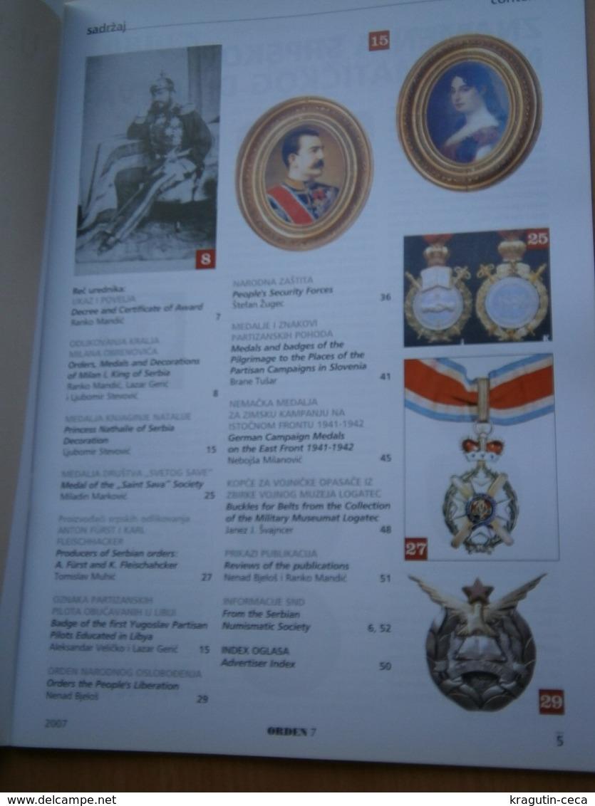 2007 Serbia Coin Numismatic Magazine Yugoslavia Medal Order Banknote Money ANTIQUE PHALERA KING MILAN OBRENOVIC DECREE - Sonstige Sprachen