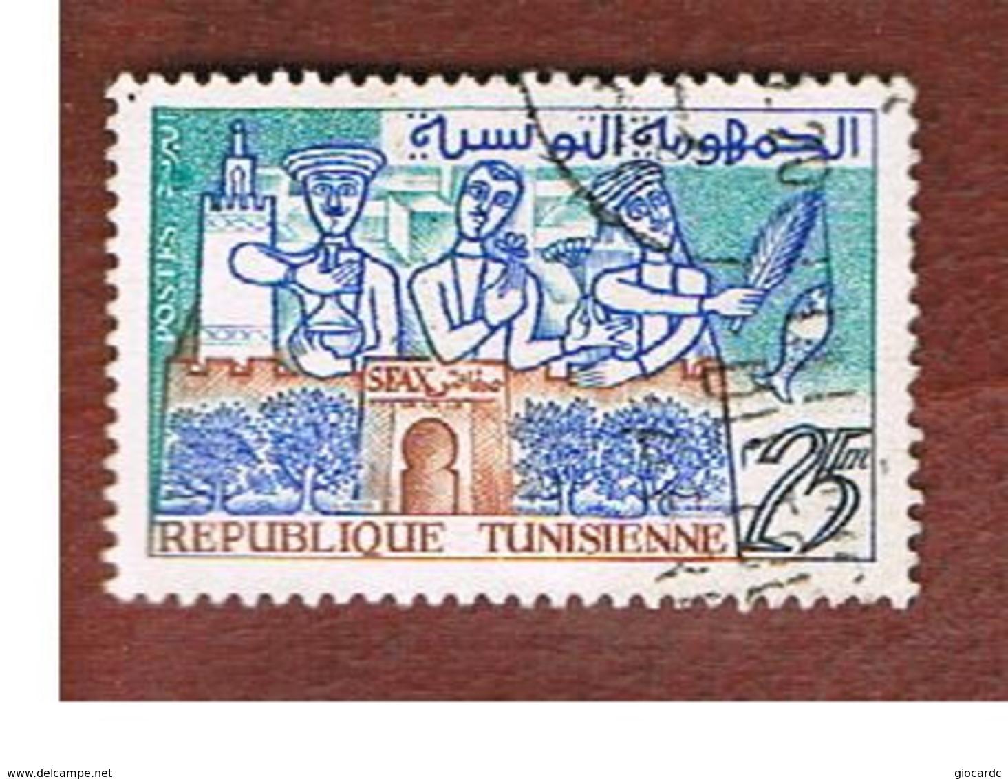 TUNISIA - SG 492  -    1959  SFAX       - USED ° - Tunisia (1956-...)